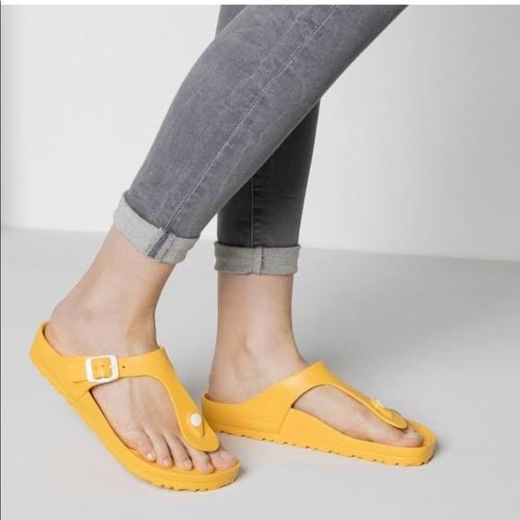 9526e732fa6945 Birkenstock Shoes - Yellow Gizeh Birkenstock size ...